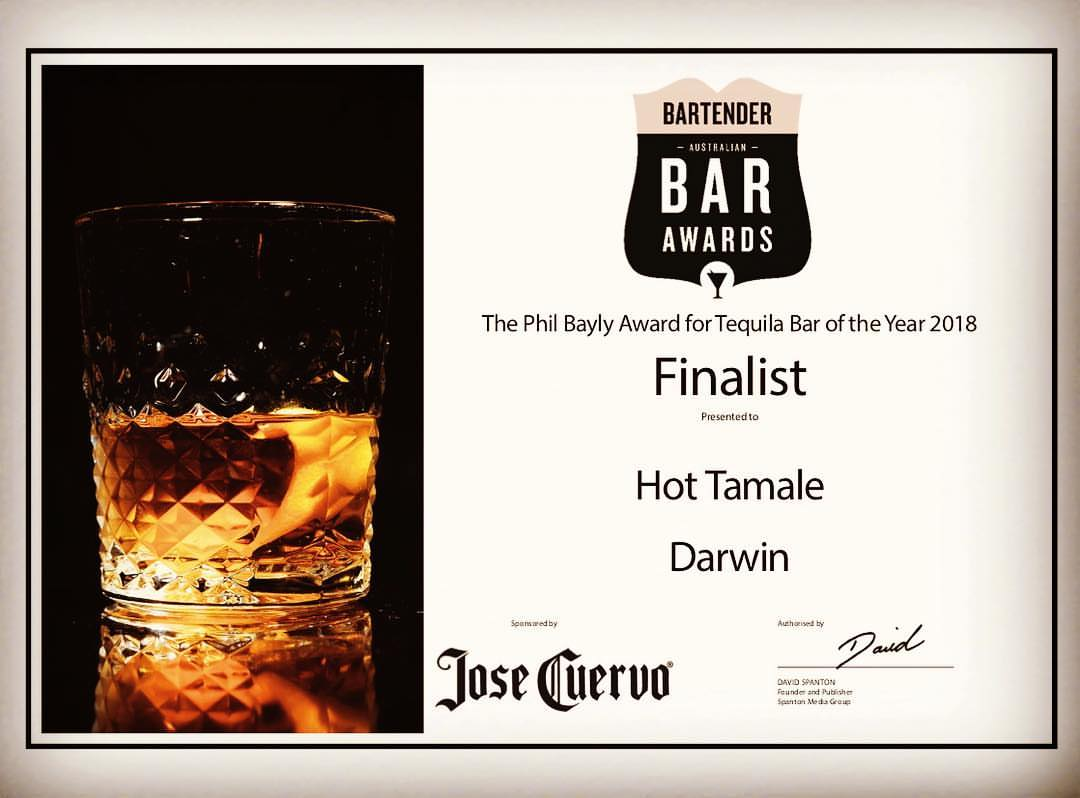 Tequila Bar of the Year Australia || Hot Tamale Darwin